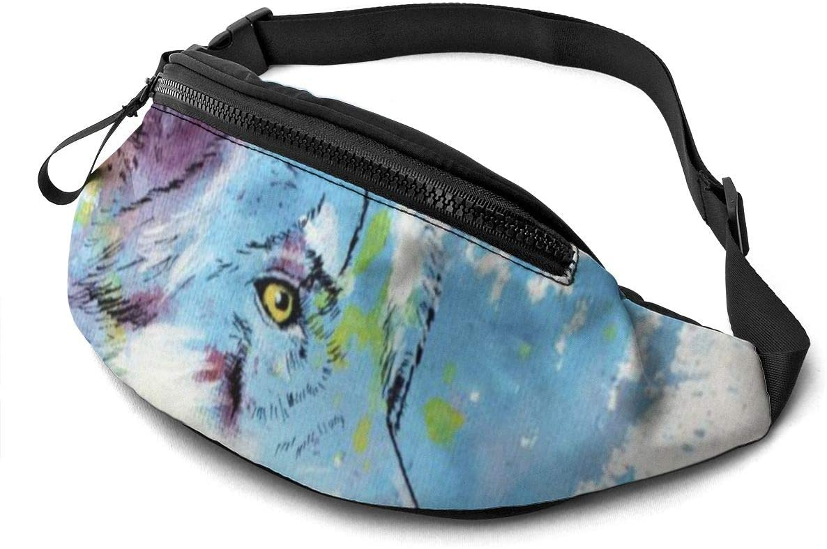 Colorful Wolf Fanny Pack Fashion Waist Bag