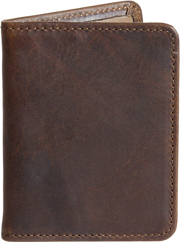 Bison Leather Card Case Wallet
