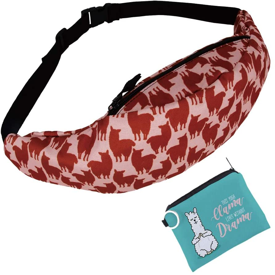 Jomtokoy Fanny Pack Slim Soft Polyester Waist Bag for Women Carrying Belt Waist Pack