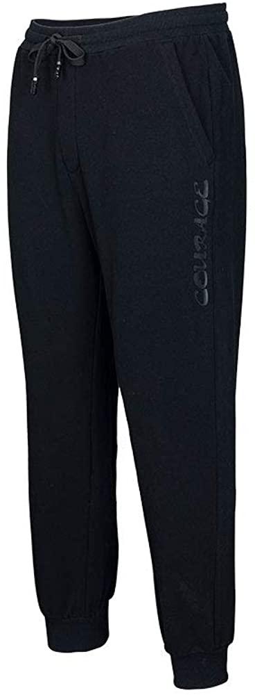 EXCELLENT ELITE SPANKER Men's Casual Slim Fit Pants Sweatpants Woollen Stripe Cashmere Pants