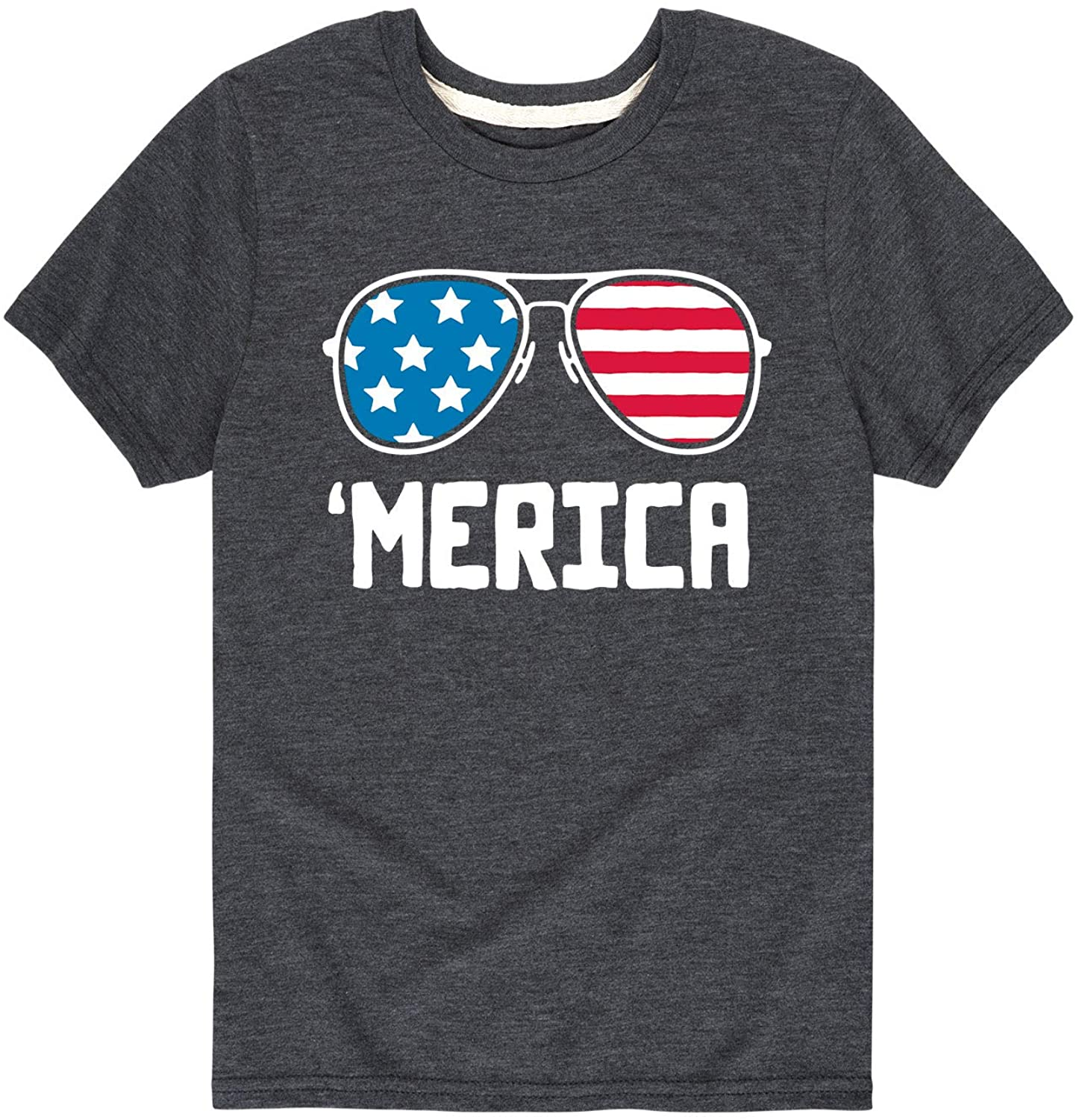 Merica Aviator Glasses - Youth Short Sleeve Graphic T-Shirt
