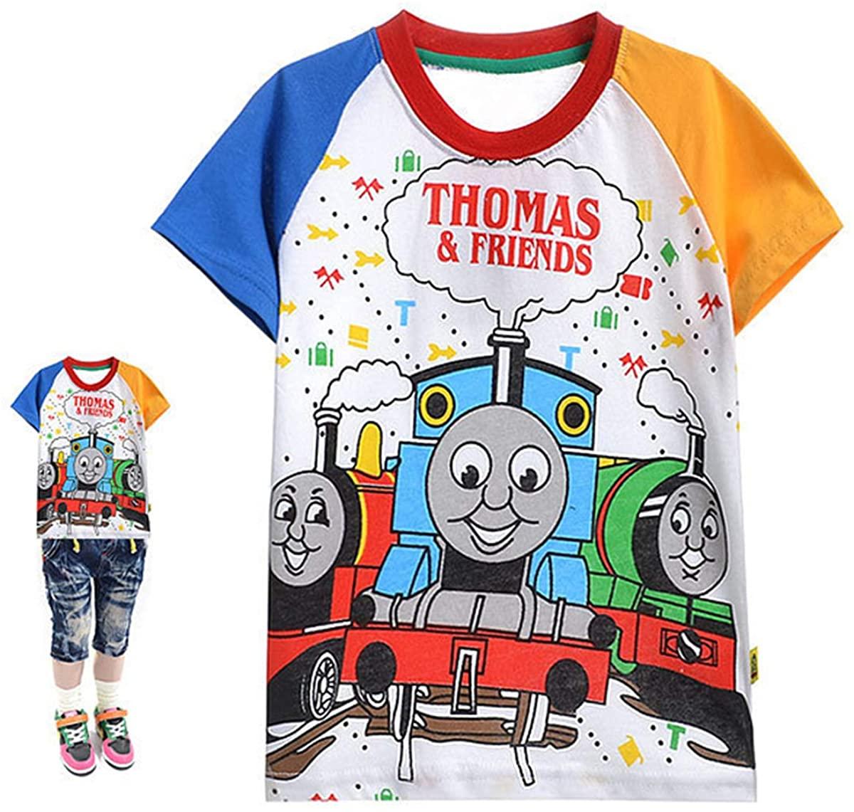 ZooYi Thomas The Tank Engine&Friends T-Shirts-Toddler Kids Short Sleeve Shirts Cartoon Print Tops Tee