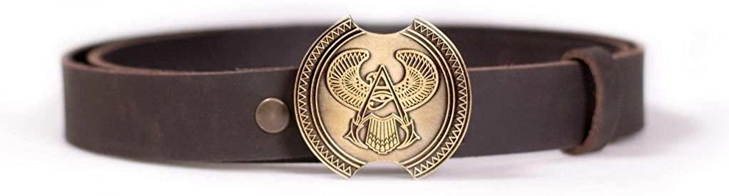 Assassin's Creed Origins Bayek Shield Belt Ubisoft Collection by Ubi Workshop (Large/X-Large, Brown)