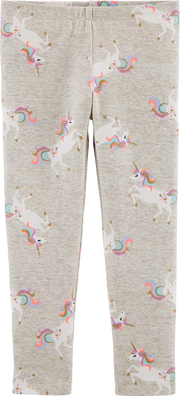OshKosh B'Gosh Girl's Pull-on Heather Grey Unicorn Leggings