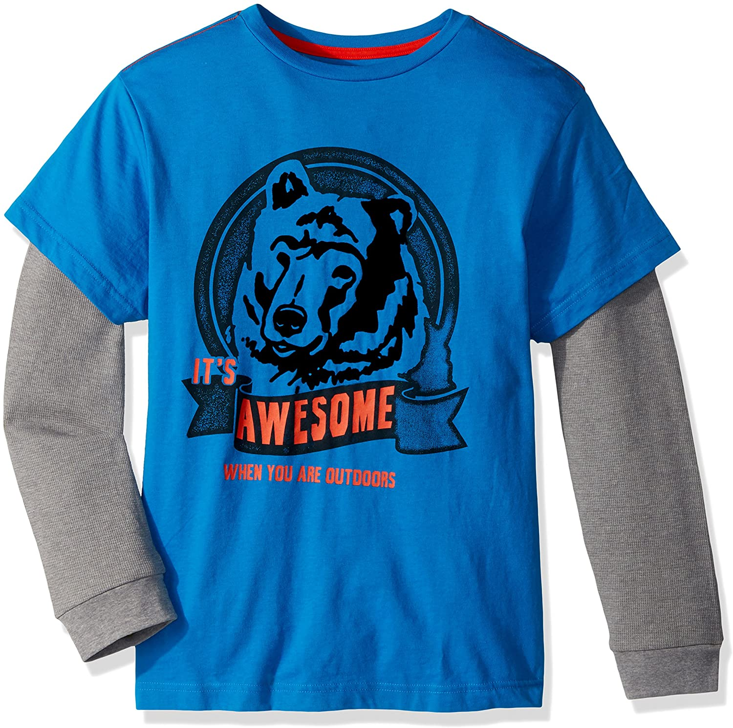 Crazy 8 Boys' Little Long Sleeve Fashion 2-in-1 Graphic Tee