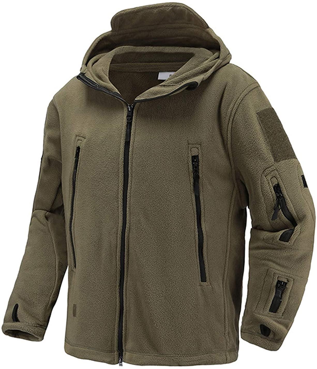 D.B.M Mens Classic Plus Velvet Warm Outdoor Hooded Zip Pocket Sports Jacket