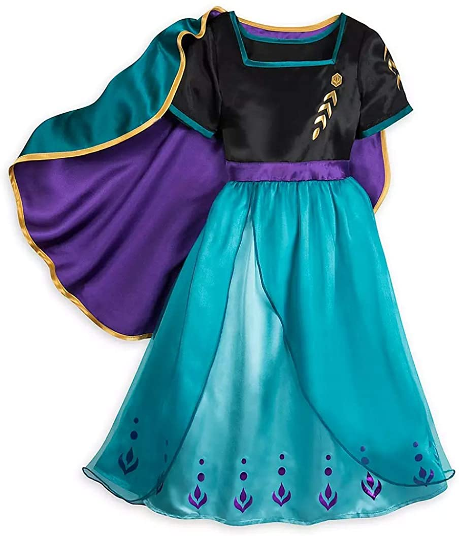 Anna Sleep Gown for Girls – Frozen 2 - Size 5/6 Black