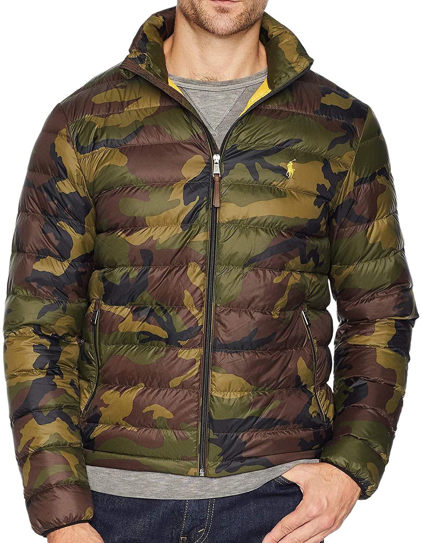 Polo Ralph Lauren Men's Green Lightweight Packable Down Jacket