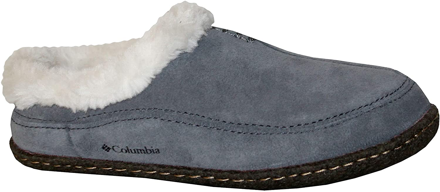 Columbia Dunmore Hill Youth Kids Faux-Fur Slippers Shoes