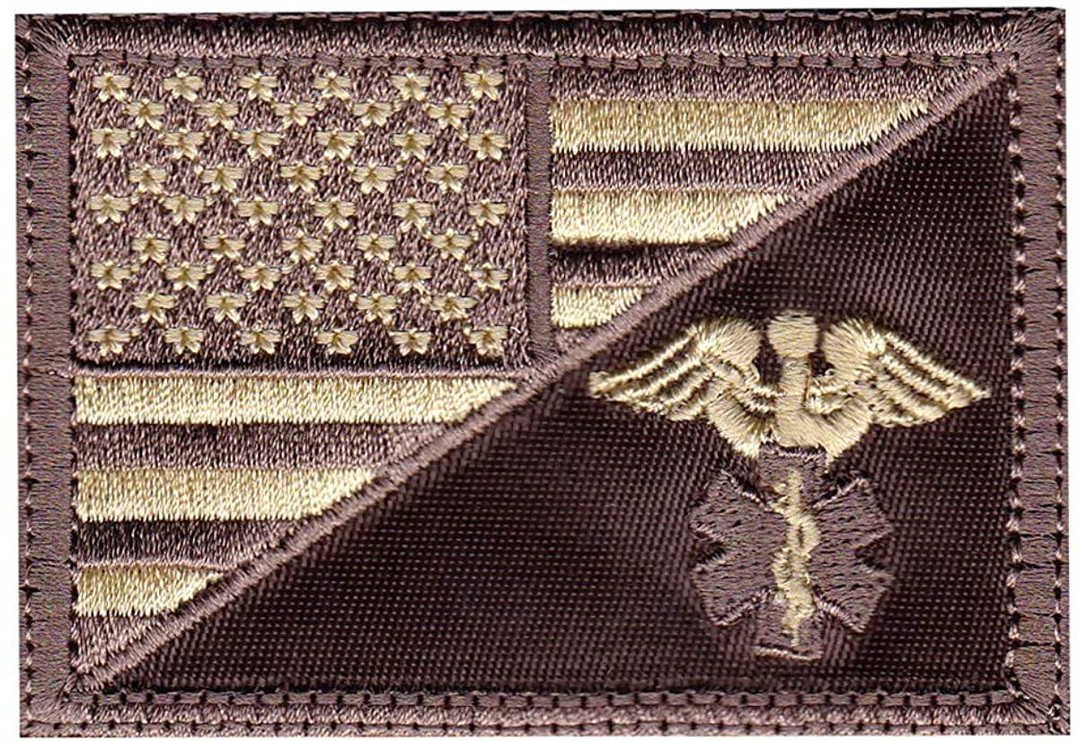 Medic Snake US Flag Half Patch