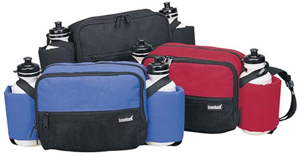 Waist Bag with Bottle Color: Blue