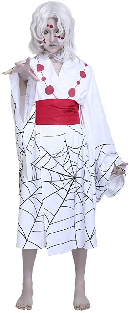 miccostumes Women's Twelve Demon Moons Rui Cosplay Costume Kimono Outfit
