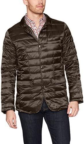 Bugatchi Men's Nylon Horizontal Quilted Blazer-Style Jacket