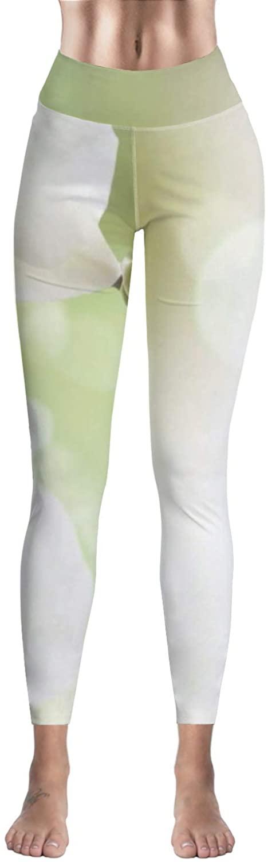 Women's High Waisted Leggings Happy Easter Cute Cartoon Rabbit Tummy Control Workout Running Yoga Pants for Women