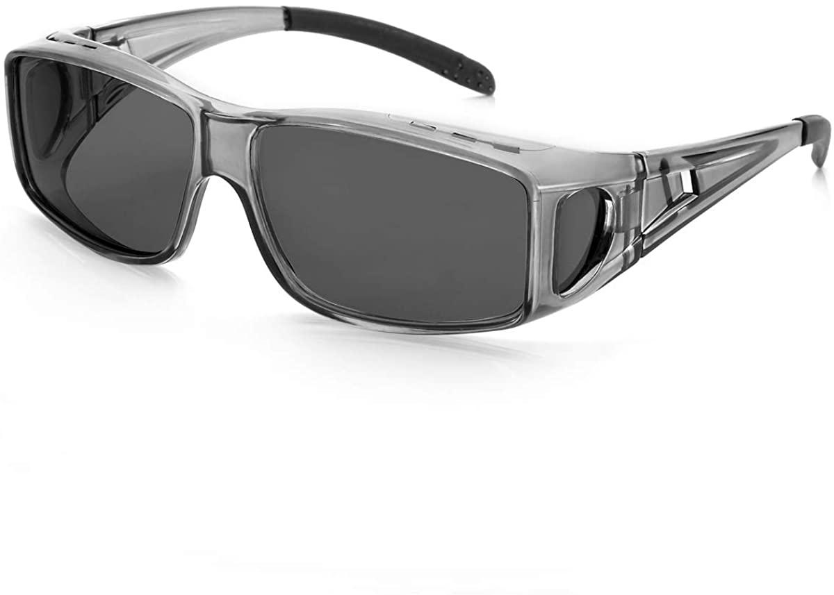 Wrap-around Sunglasses Fit Over Prescription Glasses, Women & Men HD Polarized Sunglasses UV400 Protection Anti-glare