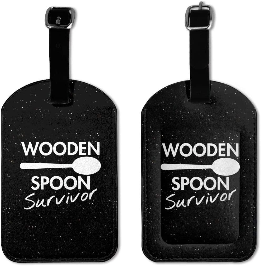 Lozeow Wooden Spoon Survivor Luggage Tagone Size