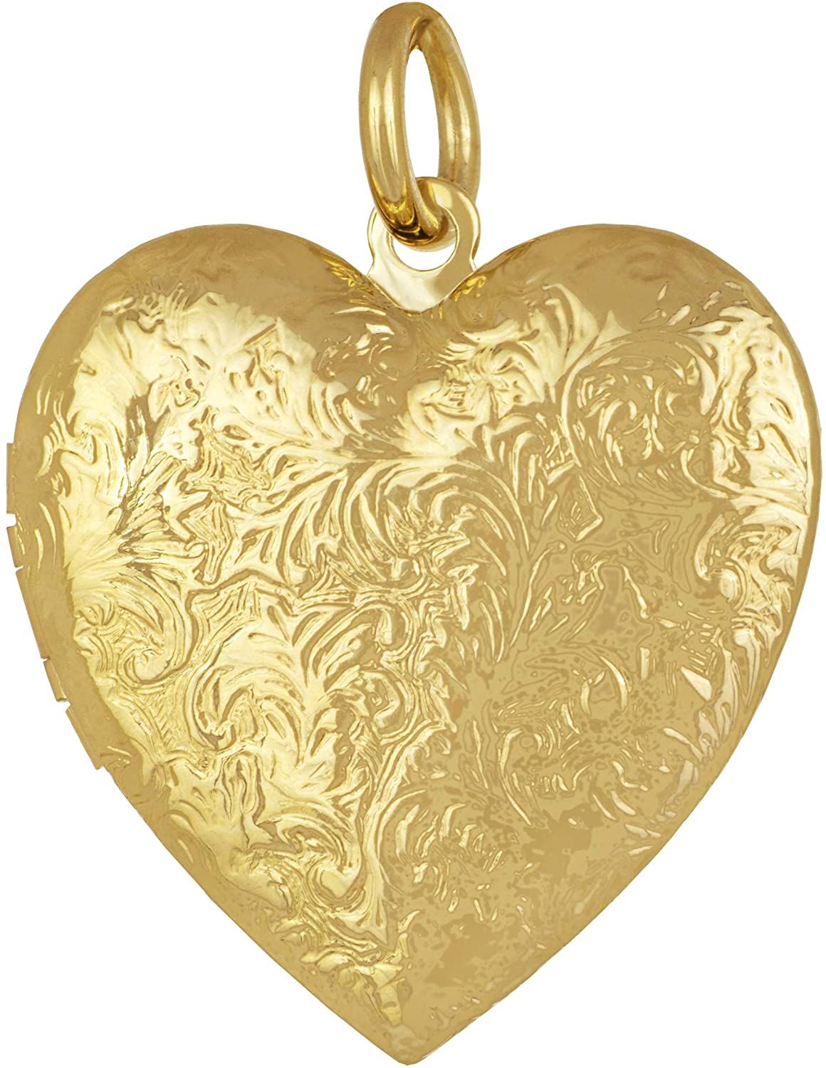 Lifetime Jewelry Antique Heart Locket Necklace That Holds Pictures 24k Gold Plated