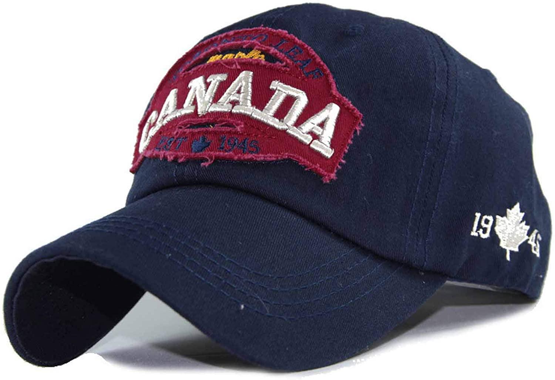 Wilbur Gold 100% Cotton Baseball Cap Men Caps Hat for Men Women Hip Hop Canada Letters Embroidered Cap Patch Dad Hat