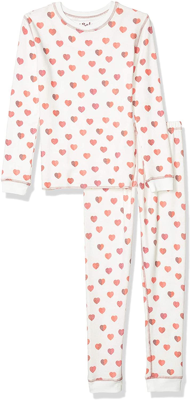 PJ Salvage Kids Girls' Peachy Ski Jammies Set