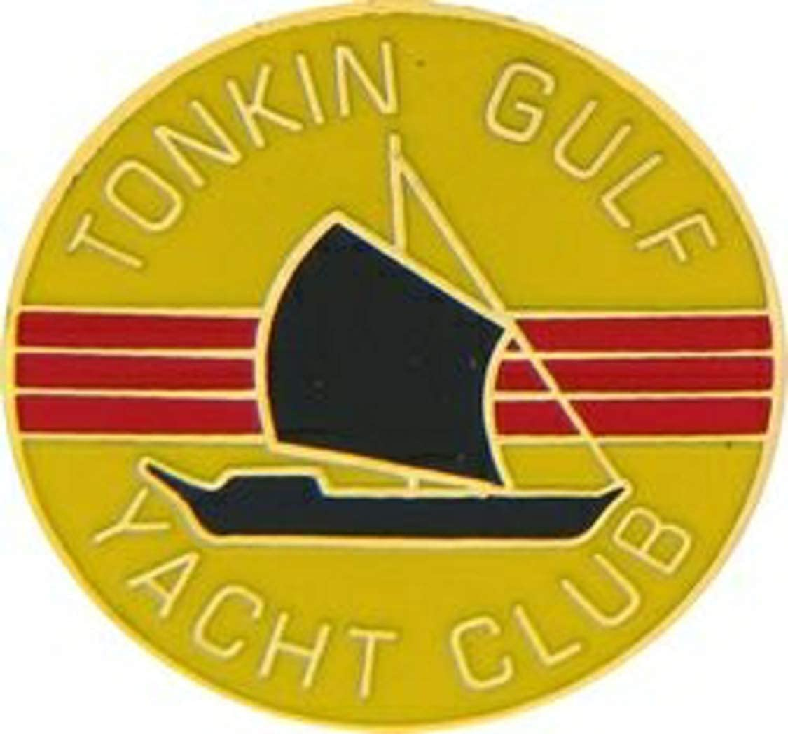Vietnam Tonkin Gulf Yacht Club Lapel Pin or Hat Pin (metal, 7/8