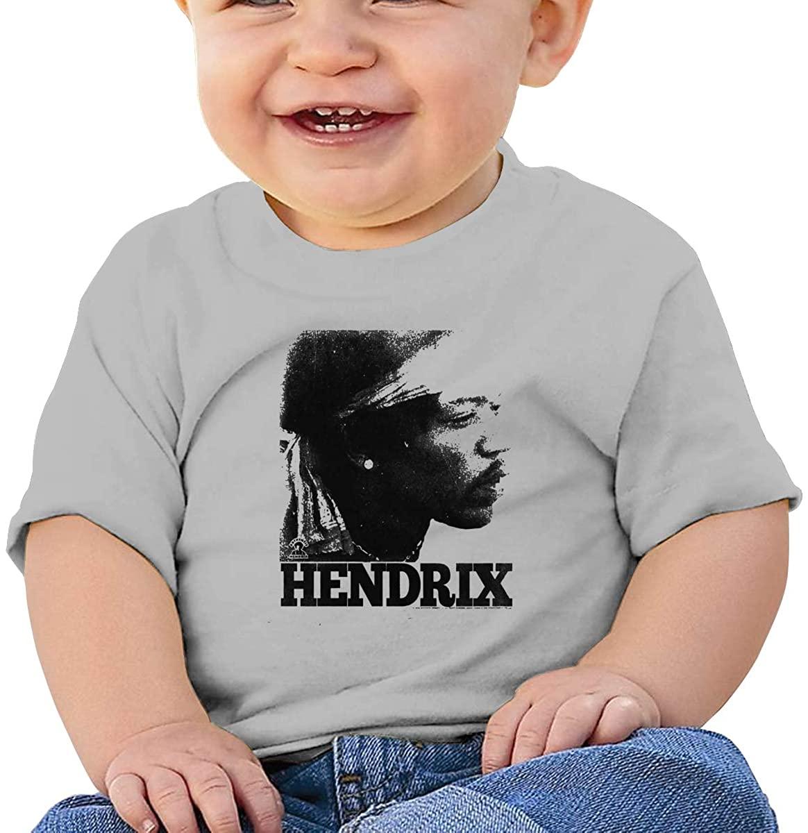 Tpoeaeoia Jimi Hendrixbaby Boys' T-Shirts, Organic Short Sleeve Round Neck Tees