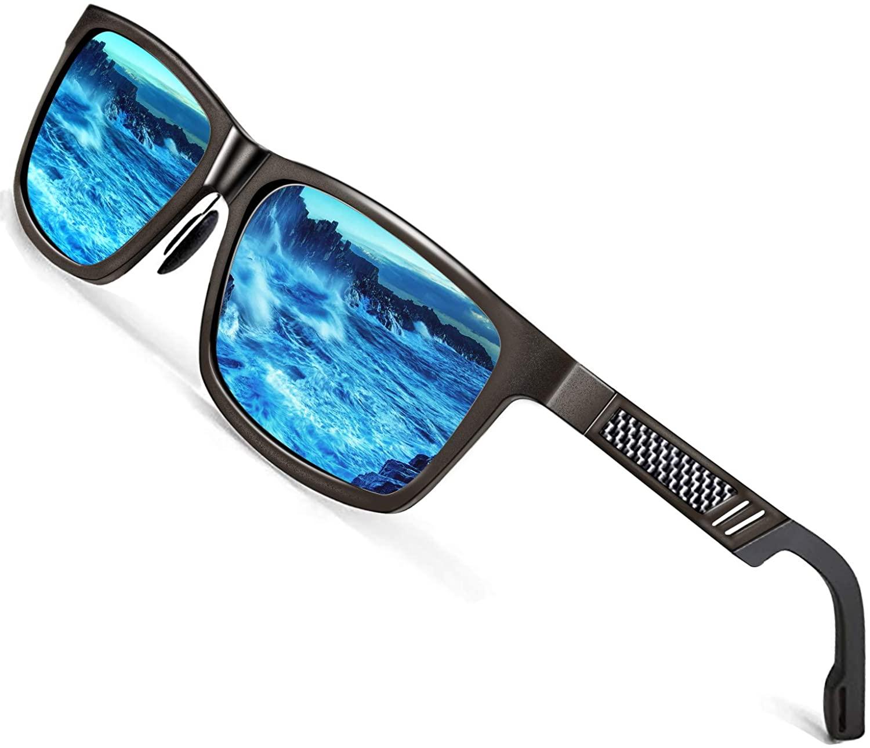ROCKNIGHT Mg-Al Driving Polarized Sunglasses for Men UV Protection Outdoors Sunglasses for Medium&Big Head 61MM Lightweight