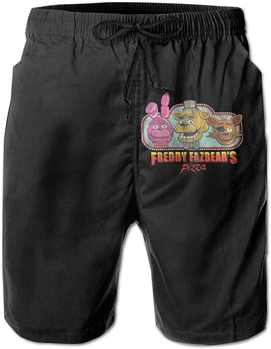 Men's Freddy Fazbear's Pizza Quick Dry Classic Logo Series Swim Trunk.