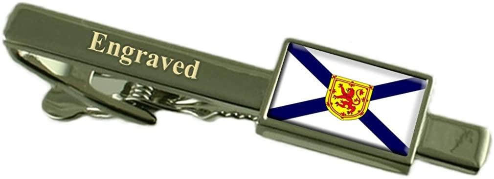 Nova Scotia Flag Engraved Personalised Tie Clip