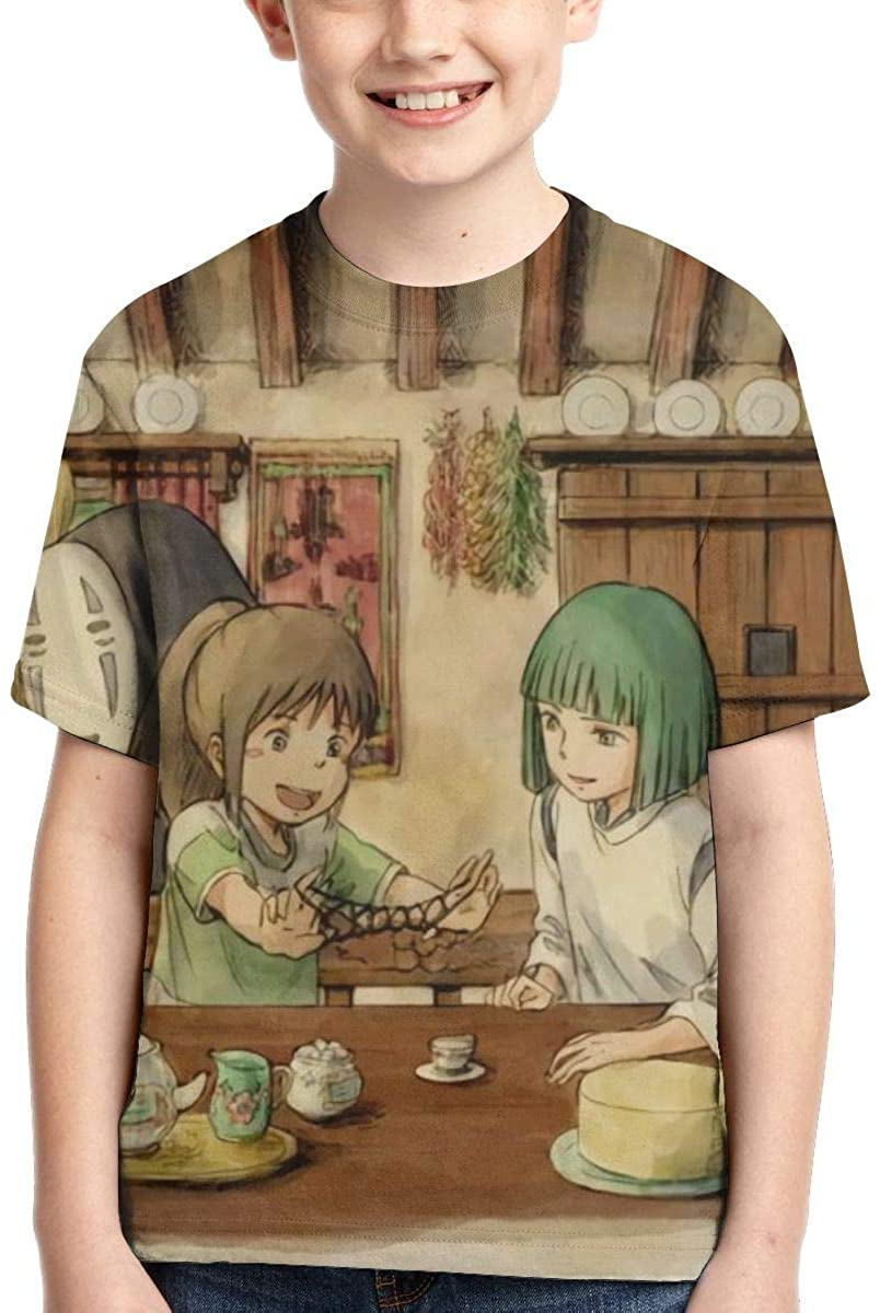 Narukrstore Child 3D Studio Ghibli Anime Art Shirts Unisex Youth T Shirt Tees