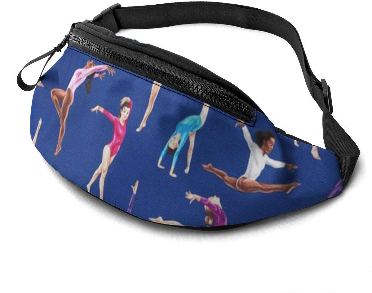 Aerobics Fanny Pack For Men Women Waist Pack Bag With Headphone Jack And Zipper Pockets Adjustable Straps