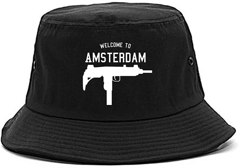 Kings Of NY Welcome to Amsterdam Uzi Machine Gun City Bucket Hat