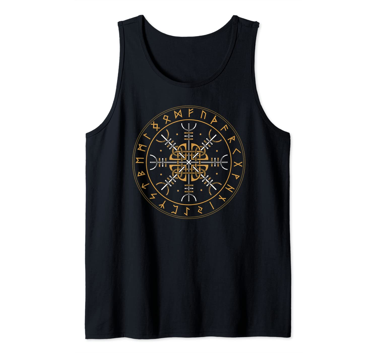 Aegishjalmur Shirt Nordic Viking Symbol Helm Of Awe Tank Top
