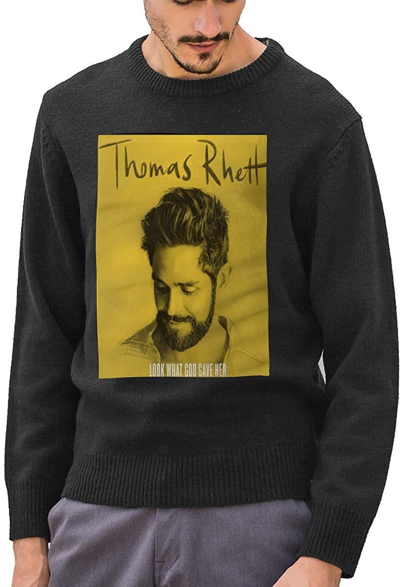 Thomas Rhett Autumn and Winter Men's Classic Fashion Crew Neck Sweater Top