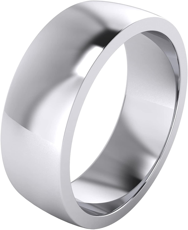 LANDA JEWEL 2/3/4/5/6/8/9mm Heavy Sterling Silver Comfort Fit Polished Womens Wedding Ring Plain Band