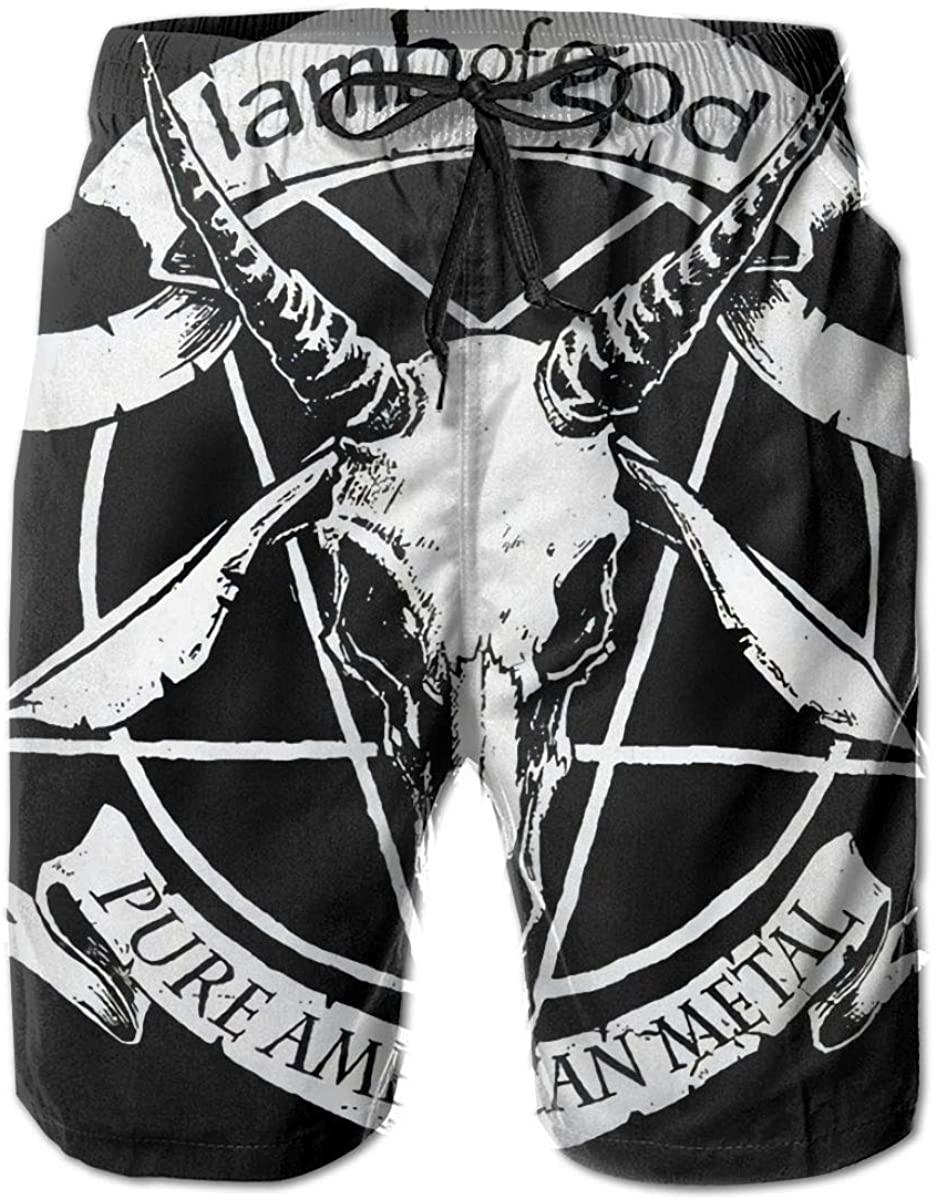 Shanke Fashion Lamb of God Men's Beach Pants Sports Pants Swimming Pants