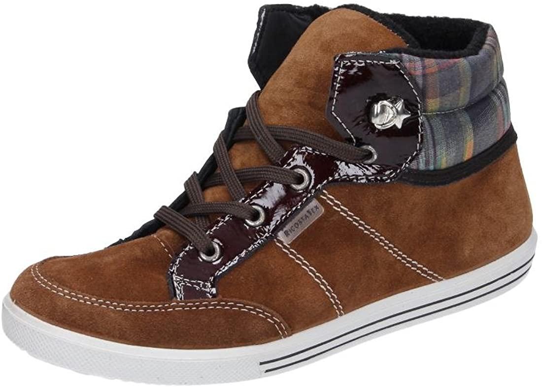RICOSTA Boys' Boots Klettschuhe Sympatex Amethyst Viol Leder Snow Sneakers