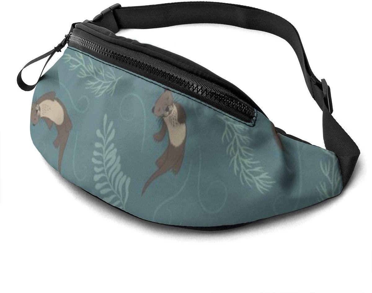Animal Otter Fanny Pack For Men Women Waist Pack Bag With Headphone Jack And Zipper Pockets Adjustable Straps