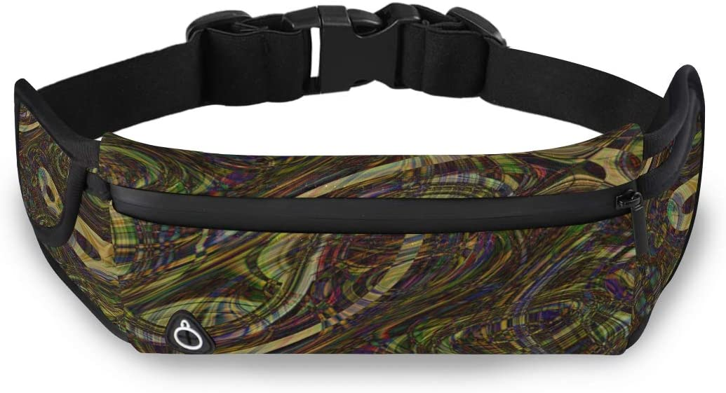 Colorful Fashion Peacock Feather Cool Fanny Pack Cheap Fashion Bags Mens Waist Bags With Adjustable Strap For Workout Traveling Running