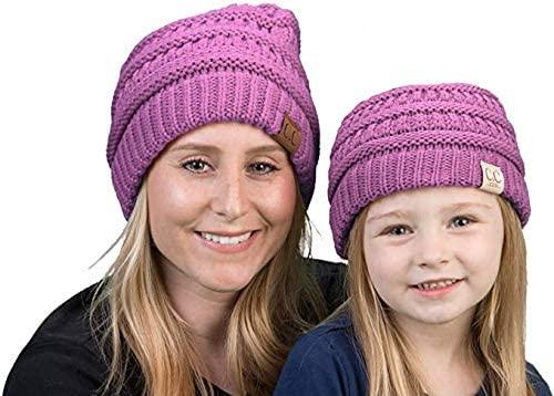 Mother/Daughter Winter Hat Bundle - Lavender