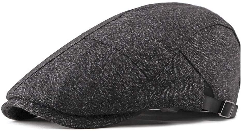 QINMEI Literary Cotton Beret Cap Casual hat Forward Cap Simple Ladies Beret Spring and Summer Men's hat Retro Golf Cap (Color : Navy Gray, Size : 56-58CM)