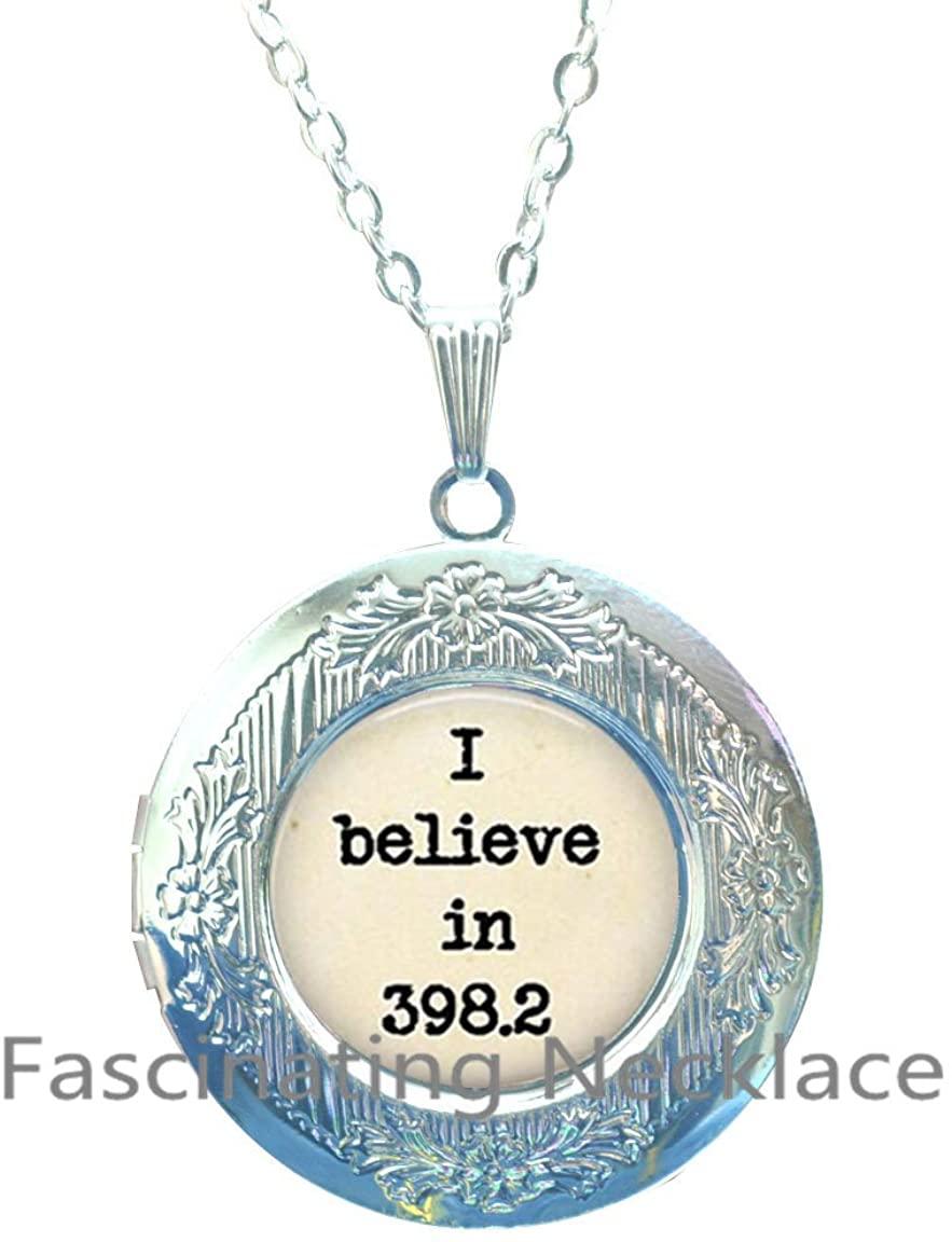 398.2 Dewey Decimal System Image Locket Pendant/Locket Necklace Jewelry, Locket Necklace Jewelry, 398.2 Photo Jewelry, Glass Locket Pendant, Gift,AQ180