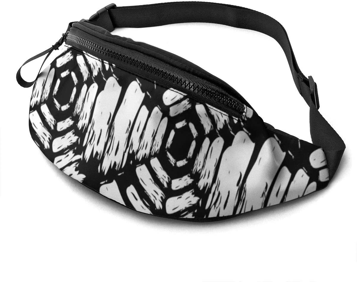 Hand Painted Brush Strokes Fanny Pack For Men Women Waist Pack Bag With Headphone Jack And Zipper Pockets Adjustable Straps