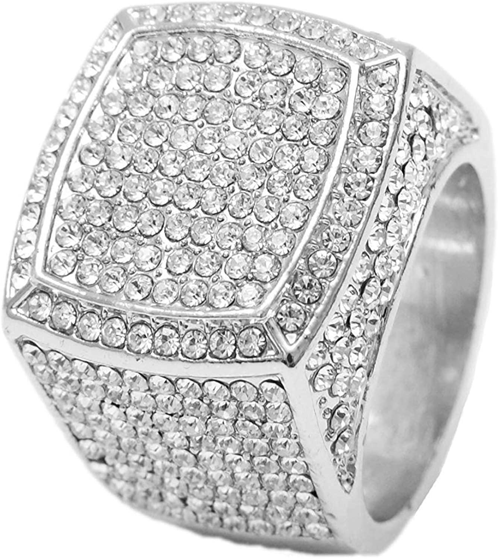 Charles Raymond Bling Bling Hip Hop Iced Out Luxury Men's Ring - 444