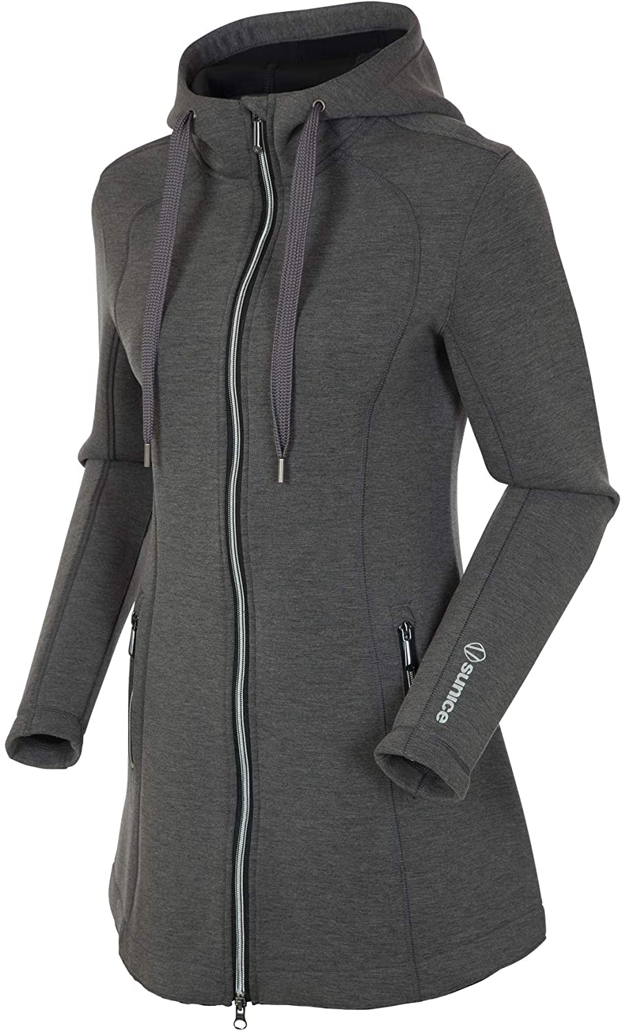Sunice Bobbie Women's Hoodie - Softshell Zip Up Jacket with Thermal Insulation