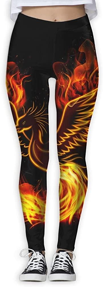 Flying XIE Womens Abstract Fire Phoenix GYM Sportswear Slim Comfort Waist Yoga Pants Trendy Pants For Women&Girl