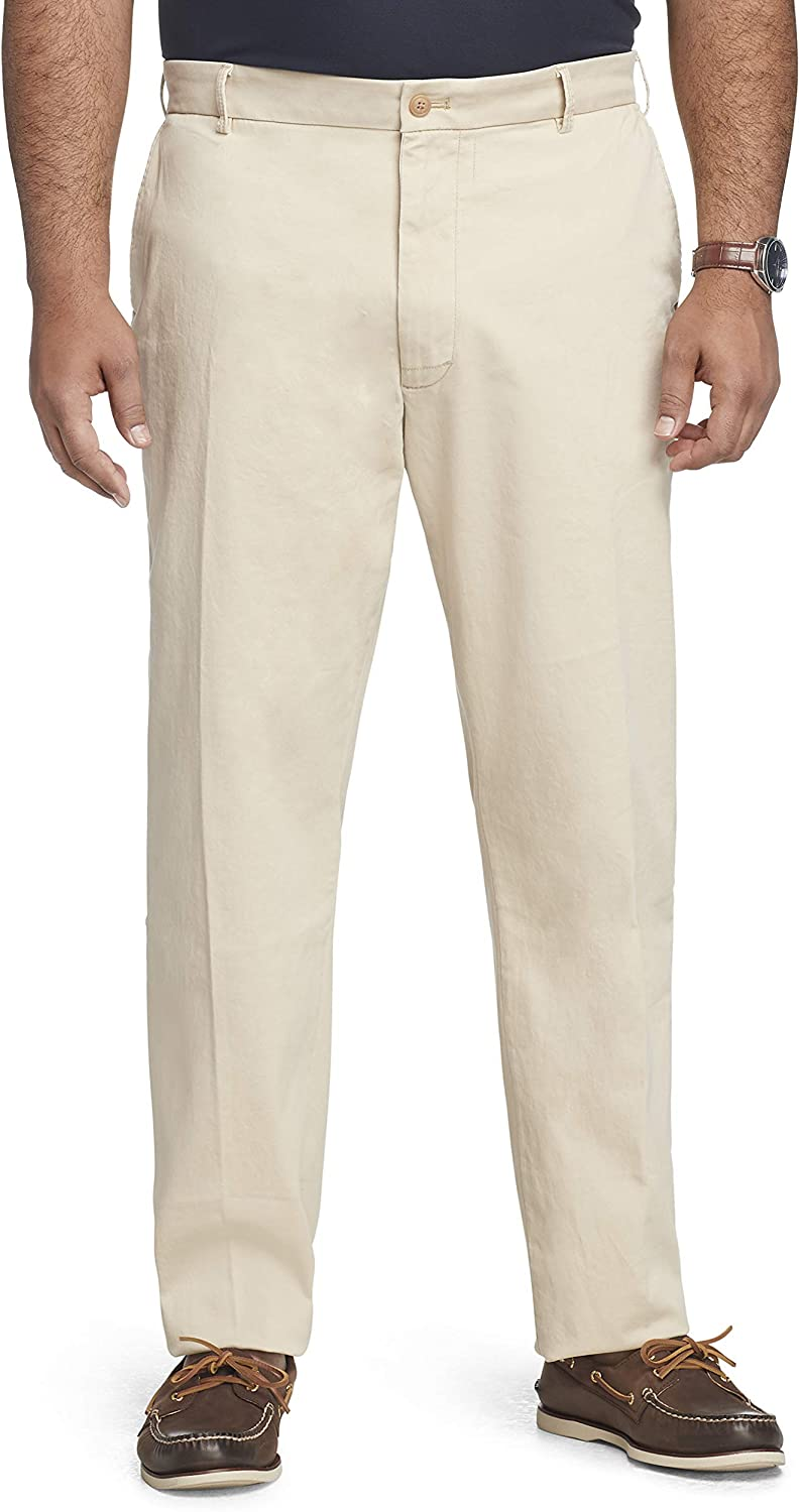 IZOD Men's Big & Tall Big and Tall Saltwater Stretch Flat Front Straight Fit Chino Pant