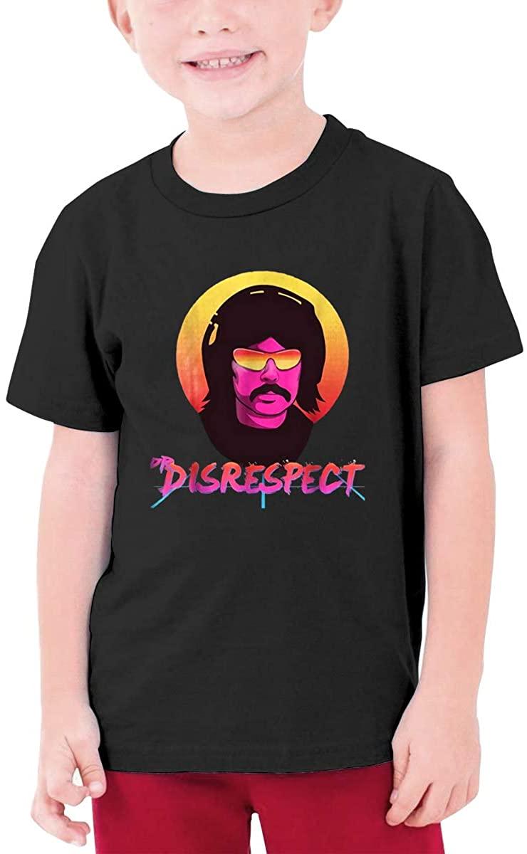 Dr. Disrespect Teenager T Shirt Boys & Girls Short Sleeve T Shirt Cotton Tee