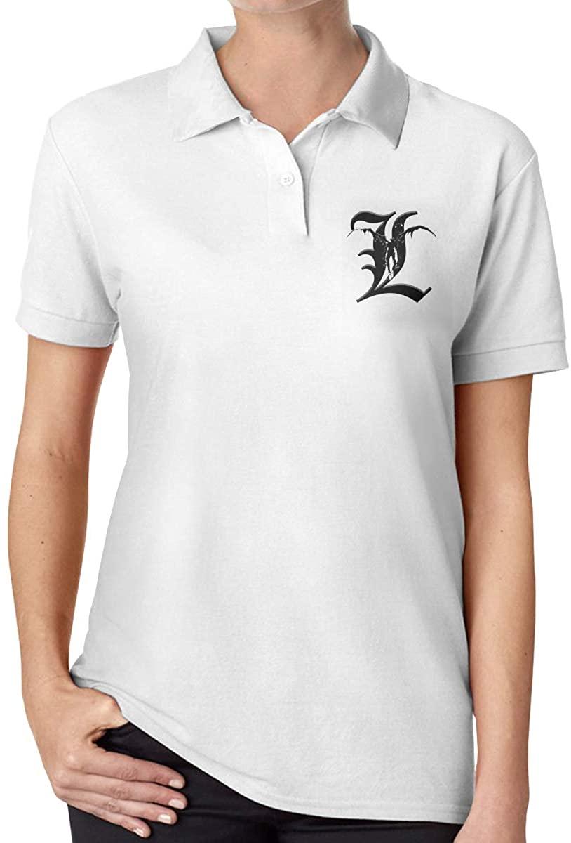 Wesley S Lance Death Note Women's Slim Fashion Polo Shirt Short Sleeve T-Shirt
