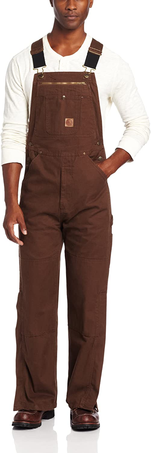 Berne Men's Unlined Washed Duck Bib Overall