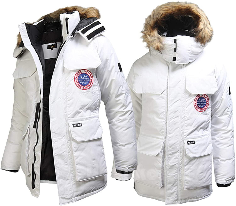 EnvyLook Mens Extreme Luke Fur Padding Parka Jacket Jumper Outdoor S152
